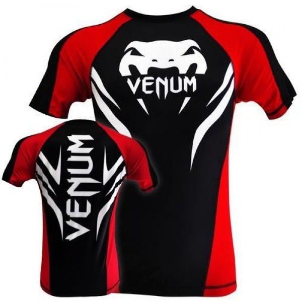Рашгард Venum Electron 2.0 Rashguard - Black - Short Sleeves