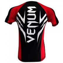Рашгард Venum Electron 2.0 Rashguard - Black - Short Sleeves, фото 3