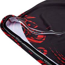 Рашгард Venum Gladiator Rashguard Long Sleeves Black Red, фото 2