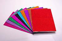 Фоамиран з блискітками на клейовій основі: 10 кольорів, А4
