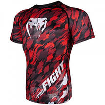 Рашгард Venum Tecmo Rashguard Short Sleeves Red, фото 3