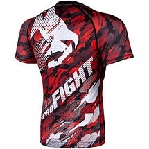 Рашгард Venum Tecmo Rashguard Short Sleeves Red, фото 2