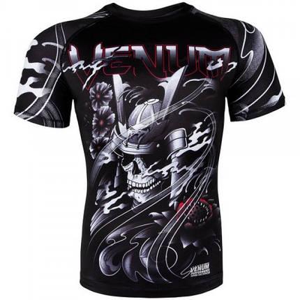 Рашгард Venum Samurai Skull Rashguard Short Sleeves Black, фото 2