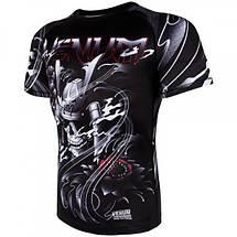 Рашгард Venum Samurai Skull Rashguard Short Sleeves Black, фото 3