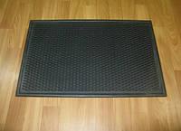 Придверный резиновый коврик без рисунка чёрный