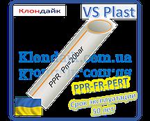 Труба полипропиленовая армированная стекловолокном VS Plast 40*6,7 PPR-FR-PERT для водопровода и отопления