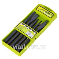 Набор кернов / зубил для автосервиса Alloid (НКЗ-РТ-5), в наборе 5 предметов, комплект кернов, комплект зубил