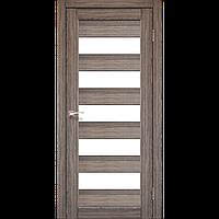 Межкомнатная дверь PORTO Дуб Грей (стекло сатин) 600х2000