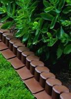 Бордюр садовый декоративный Palisada коричневый 2 м.п.