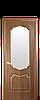 Дверное полотно Вензель со стеклом сатин
