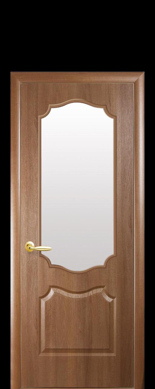 Дверное полотно Вензель со стеклом сатин , фото 1