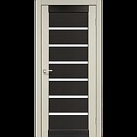 Межкомнатная дверь PORTO combi colore Дуб беленый (стекло сатин) 900х2000