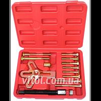 Съемник шкива для автосервиса Alloid (С-4007), в наборе 13 предметов, инструмент для съема шкива