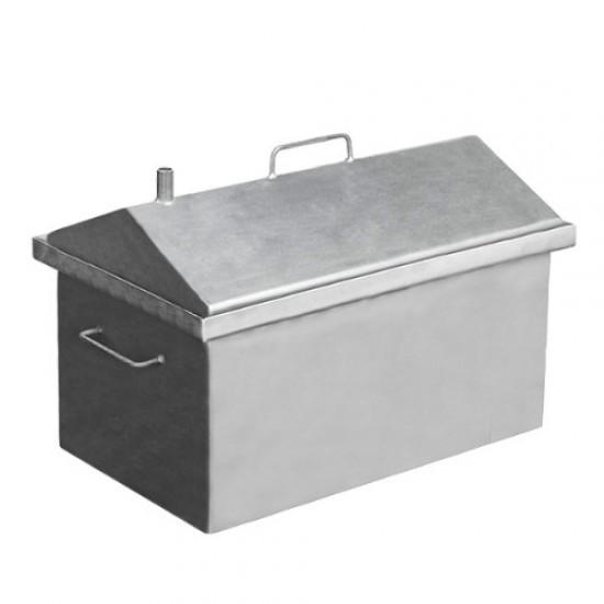 Коптильня горячего копчения средняя домиком 590x360x390 (сталь)
