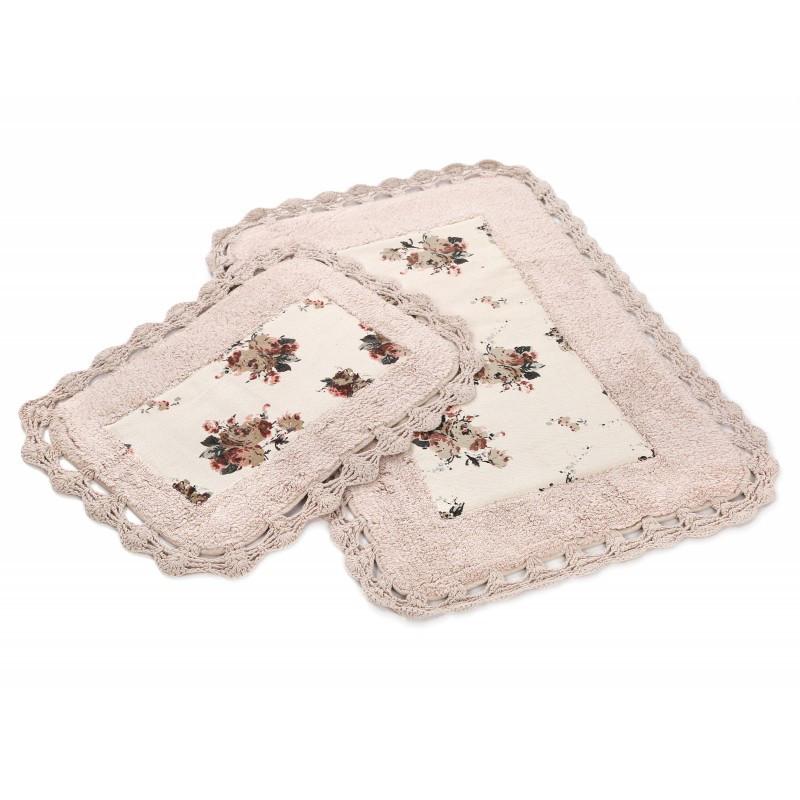 Набор ковриков в ванную Irya - Essa pembe розовый 70*110+40*60 см