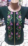 Вышиванка футболка женская зеленая, фото 3