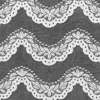 Тюль гипюр, орнамент бело-серый, фото 1