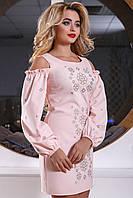 Платье женское с вышивкой в 3х цветах SV2561-62-63, фото 1