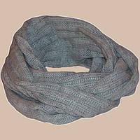 Вязаный шарф-снуд мраморного цвета