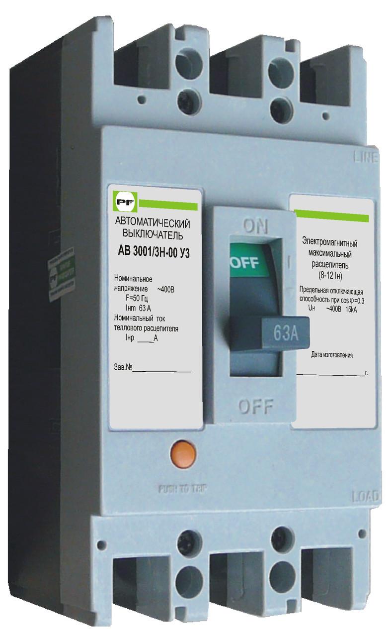 Автоматичний вимикач Промфактор АВ3001 16-63А 3Р