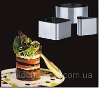 Форма для гарнира и салатов Квадрат Круг Треугольник наб 3шт