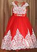 Дитяче бальне вечірнє плаття з мереживом і стразами на дівчинку 10-11 років., фото 6