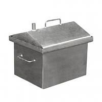 Коптильня горячего копчения малая домиком 380x320x360 (сталь)