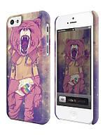 Чехол  для iPhone 5C Swag девушка с головой медведя
