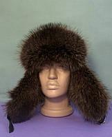 Мужская меховая шапка из енота полоскуна
