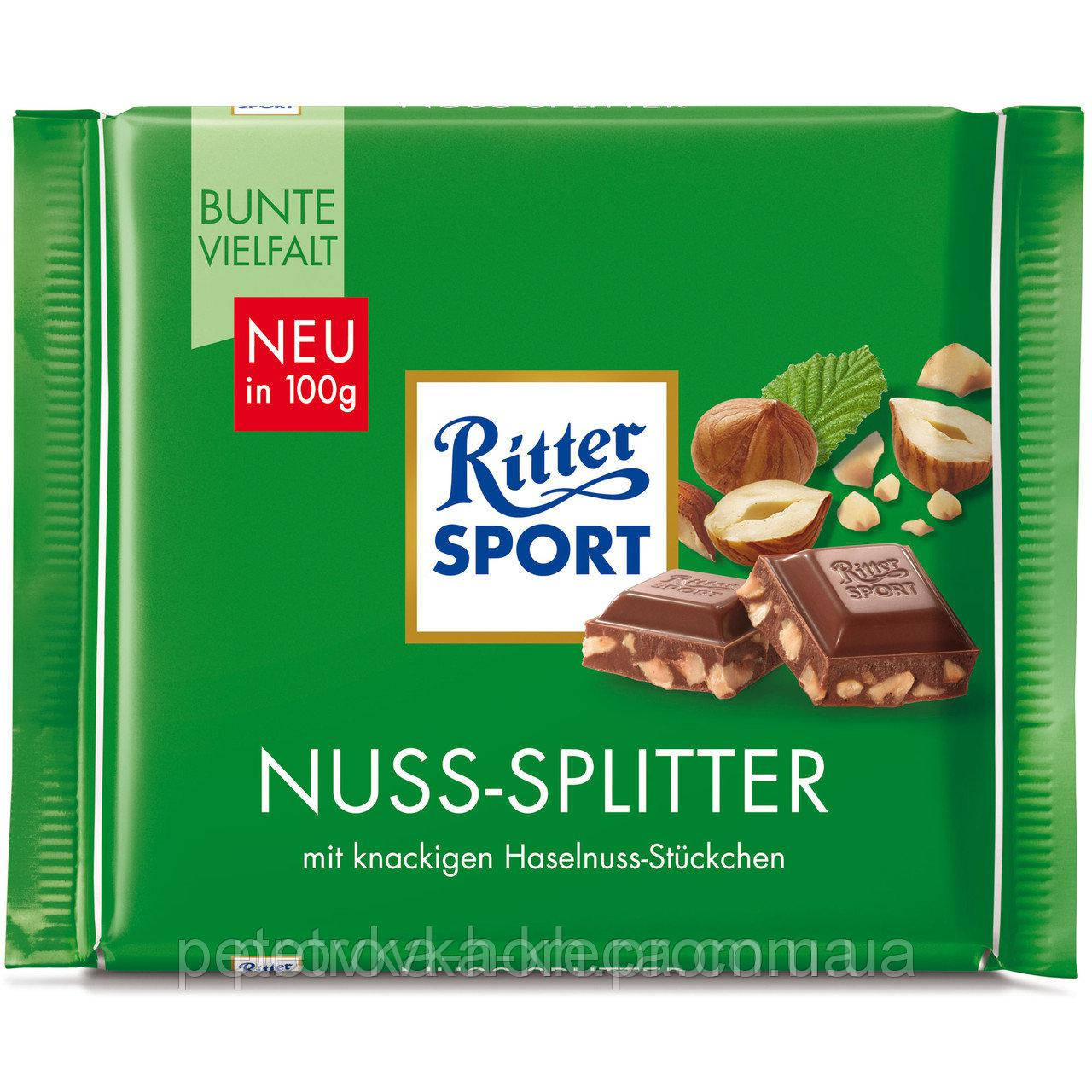 """Шоколад """"Ritter Sport"""" Nuss-Splitter Лісовий Горіх 100г"""