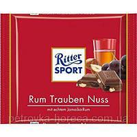 "Шоколад ""Ром з родзинками та горіхами"" Ritter Sport. RUM RAISINS HAZELNUTS 100г, (1ящ/12шт)"