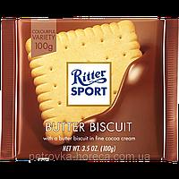 "Шоколад ""Ritter Sport"" Butter biscuit Молочний з сливочным печеньем 100г"