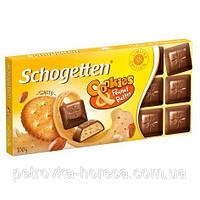 Шоколад Schogеtten Cookies Peanut Butter (Печенье с солью и ореховым маслом) 100гр