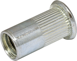 RSr-Гайка клепальная рыфленая М 3/0.5-2.0 зм.потай D6 (500шт/уп)