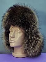 Мужская меховая шапка из енота