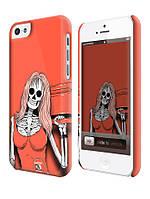 Чехол  для iPhone 5C  девушка скелет