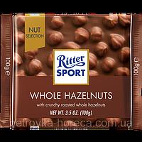 """Шоколад молочный шоколад с цельным фундуком """"Ritter Sport"""" 100г"""