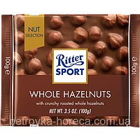 "Шоколад ""Ritter Sport"" WHOLE HAZELNUTS (Молочный шоколад с цельным фундуком), 100г"