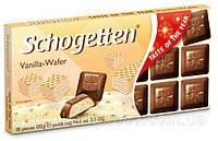 Шоколад Schogetten Vanila Wafer 100г  Ванильно-вафельная
