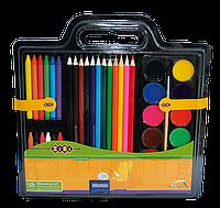 Набор для рисования ZIBI ZB.6400 Краски, цветные карандаши, мел, воск, кисть и точилка
