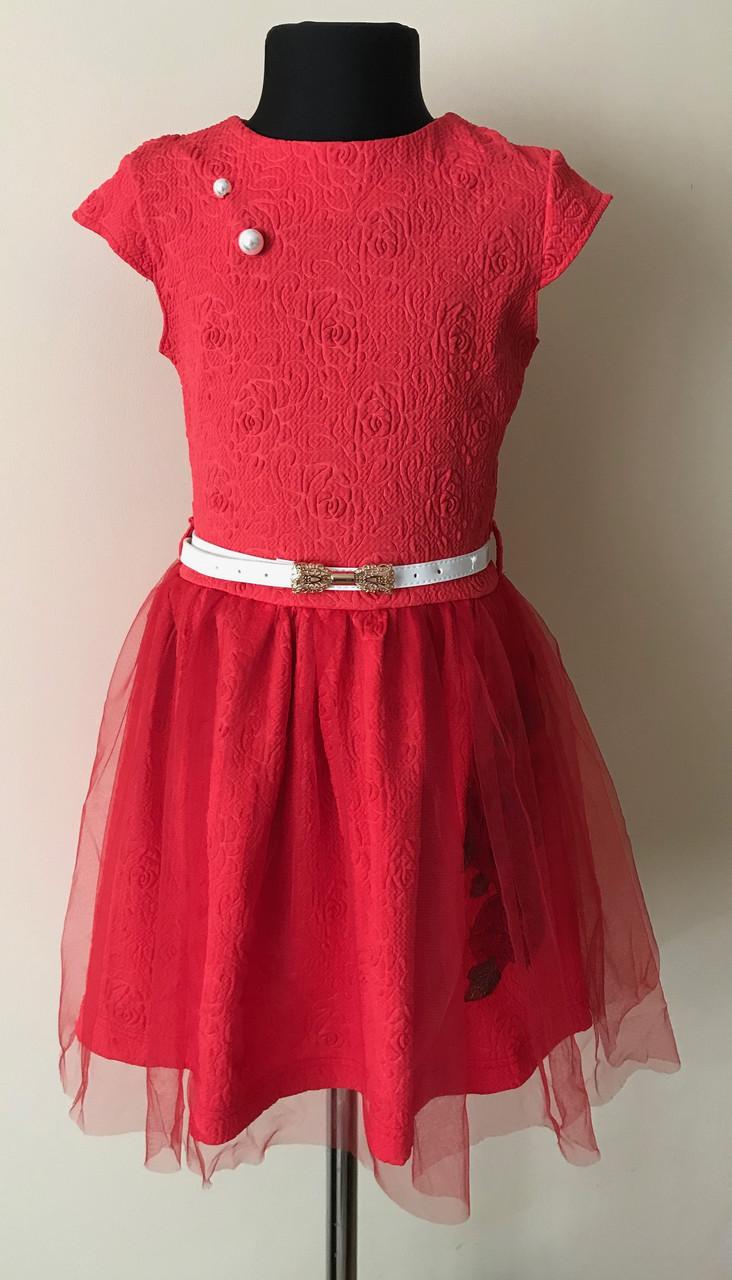 cf682635d50 Нарядное платье для девочки с вышивкой 6-7 лет  продажа