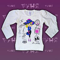 Белая детская трикотажная кофта на девочку Off Style