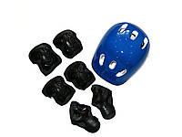 Комплект шлем и защита MAXLAND ENTERPRISES размер S-M Cине-черный (MS0014-1/CL1746)
