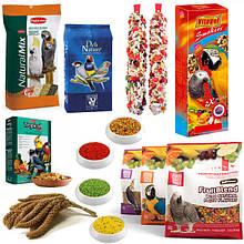 Корма, витамины и минералы для птиц, канареек, попугаев