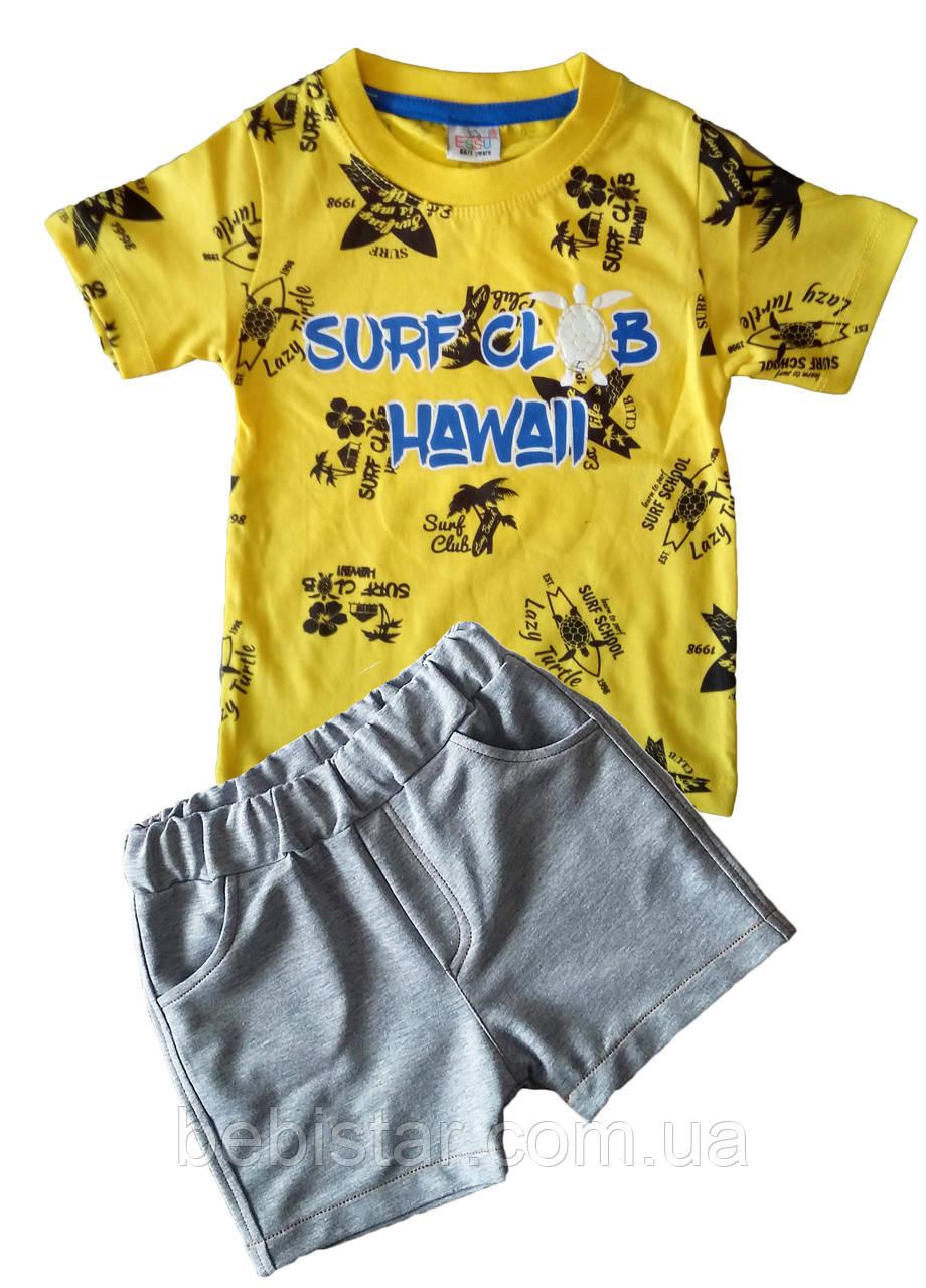 Футболка пальмы и шорты модник для мальчика 1-4 года