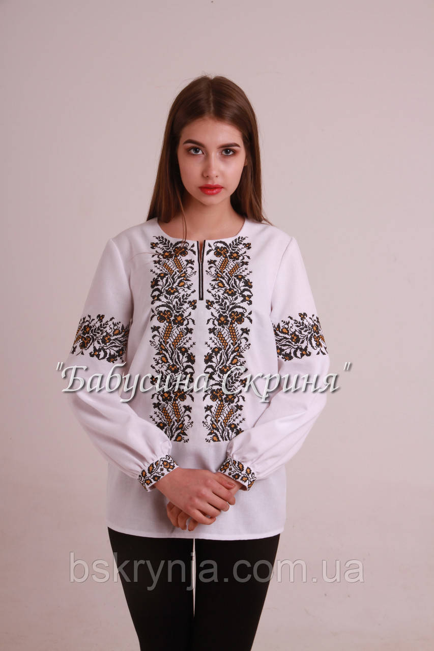 Заготовка Сокальської жіночої сорочки для вишивки нитками/бісером БС-68