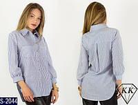 Рубашка S-2044 (42, 44, 46, 48) — купить Рубашки, блузки оптом и в розницу в одессе 7км