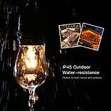 Ретро гирлянда Уличная  5 м комплект  Патрон е 14  ,10 ламп Эдисона Р  45 тёплый приятный свет, фото 6