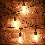 Ретро гирлянды Уличная  5,5  м комплект  10 ламп Эдисона ST GOID 45 патрон Е 27, фото 5