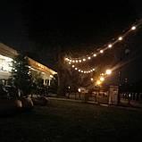 Ретро гирлянда Уличная  5 м комплект  Патрон е 14  ,10 ламп Эдисона Р  45 тёплый приятный свет, фото 7